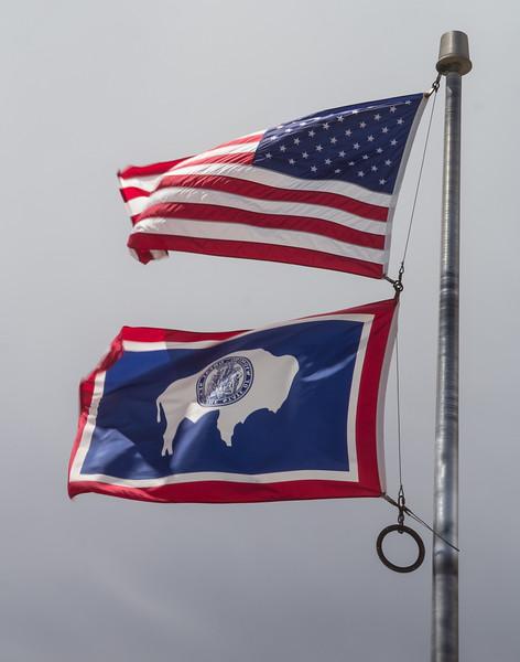 America / Wyoming flags
