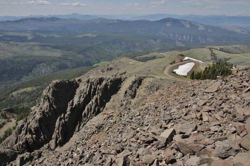 Vulcanic rocks, Mount Washburn 3152m, highest point in Yellowstone National Park.