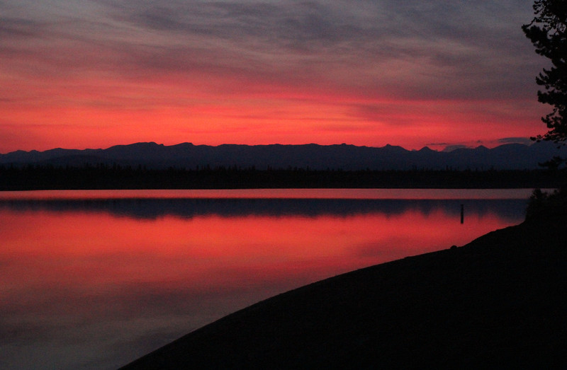 Sunset, campground Hebgen Lake, MT.