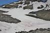 Chlamydomonas nivalis, Watermelon snow, a species of green algae, Bridger-Teton National Forest