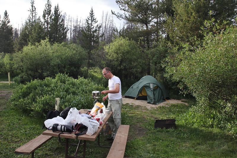 Campground Elk Creek, living area Moose, near Grand Lake, CO.