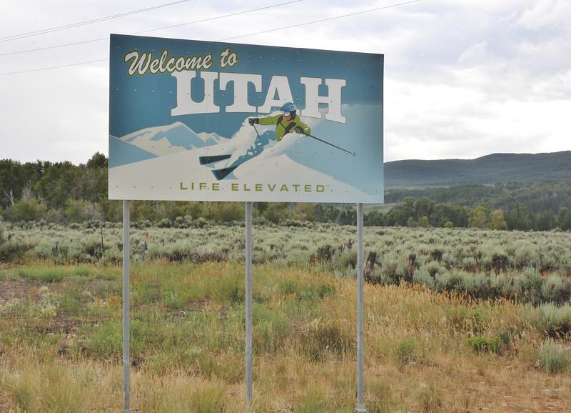 Utah State border near Dinosaur National Monument