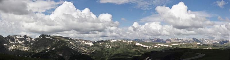 Panorama-view at Stones Peak 3939m, Mnt. Tomah 3876m and Mnt. Julian 3940m, Mnt Ida 3926m, Jackstraw Mountain.