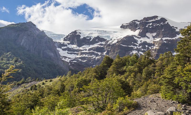 view from the campsite, Cerro Tronador- 3554m,
