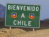 Border Chile - Argentina (sign back away)
