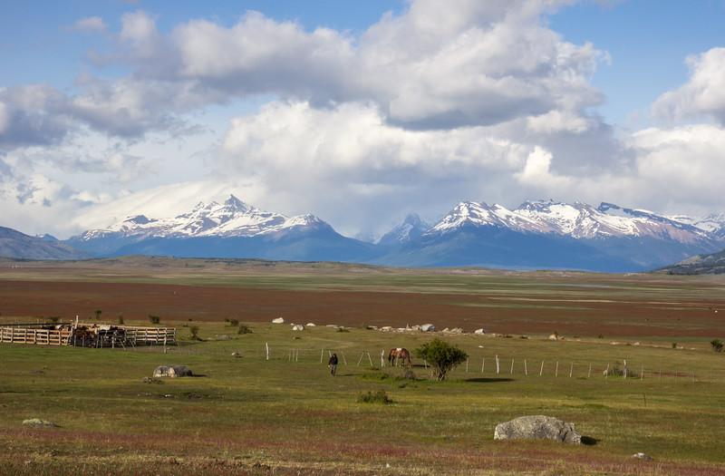 View from Estancia Rio Mitre