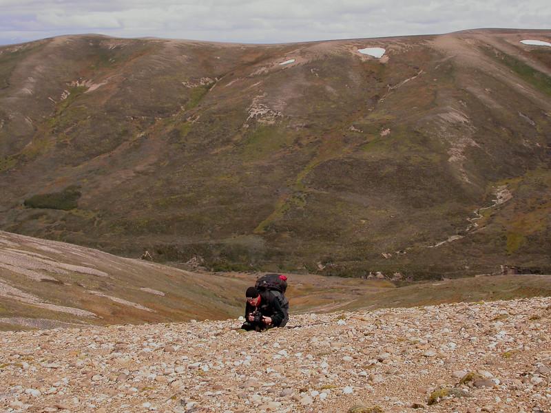 Marijn photographing at the West Ridge