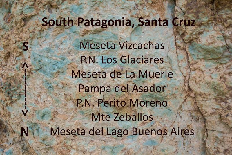 Visited places in Santa Cruz, Argentina