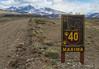 Puma warning and max. speed sign