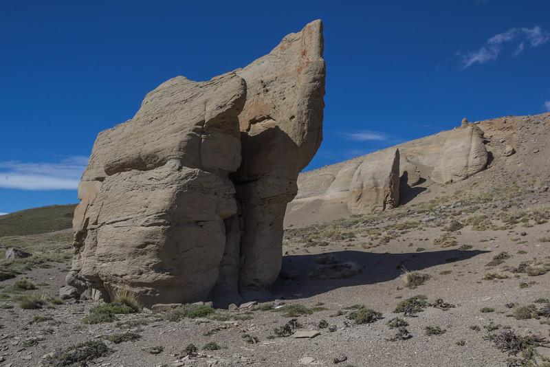 Volcanic sandstone rock