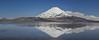 Parinocota Volcano 6348m and Lake Chungará 4600m,