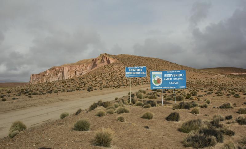 Sign Parque Nacional Lauca