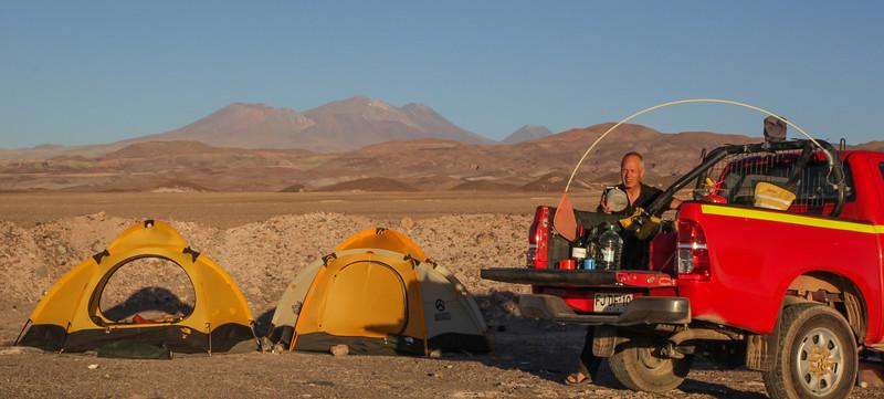 Campsite Atacama Desert, near Peiñe