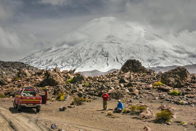 Vulcan Parinacota 6630m