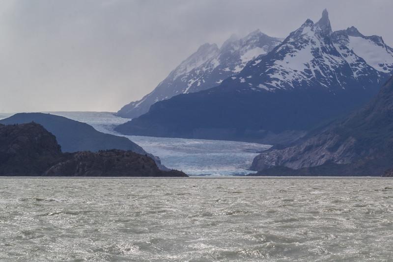 Grey Glacier with Cerro Ostrava