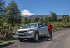 Toyota  4x4 and in the background Vulcano Llaima 3125m