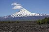 Vulcanic rocks and Vulcano Llaima 3125m,