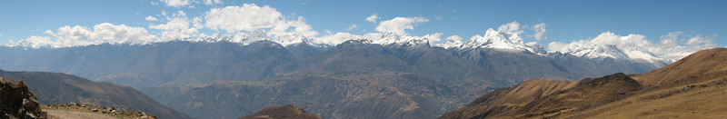 Caraz 2290m, view at Cordillera Blanca