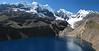 panorama landscape (Safuna 4200m - Mesapatapass 4460m - Quara Quara 4530m, Cordillera Blanca)