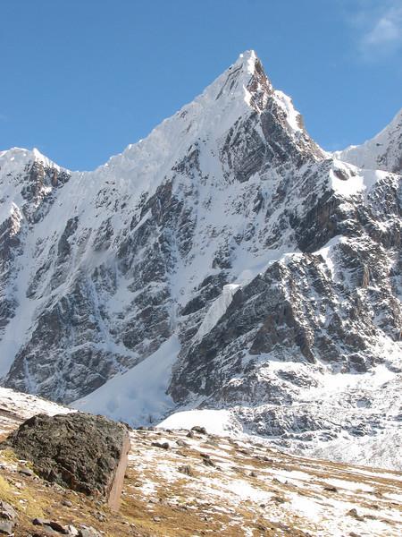 mountains of Nevado Puca, route Teccla Cocha 4800m-campapass 5030m-Pacchanta 4300m Punto