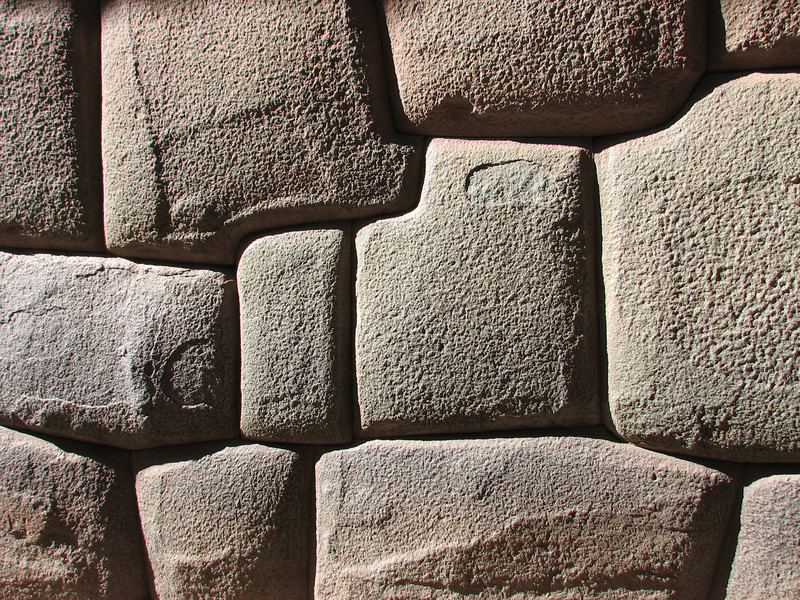 Inca stone works,  Cusco
