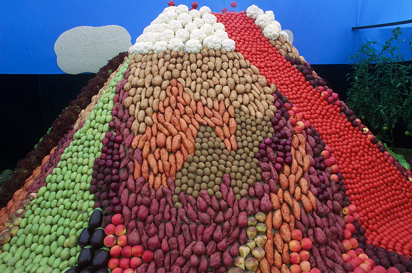 Mountain Vege - made up of 6,000 vegetables! Ellerslie International Flower Show Botanic Gardens Manurewa New Zealand - 19 Nov 2006