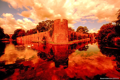 Bishops Castle Moat and Walls 007