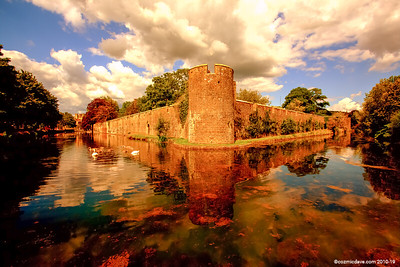 Bishops Castle Moat and Walls 006