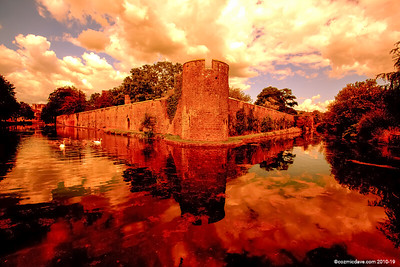 Bishops Castle Moat and Walls 008