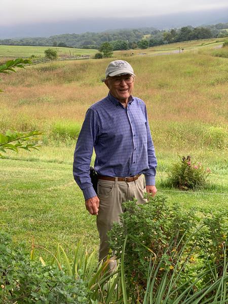 Bob Diebold, Blue Ridge behind him