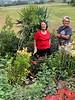 "Bobbie Diebold, Wendy Bell, Lycoris, ""tree"" yucca.  Looking towds Bl. R."
