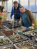 Jim D, John Bartlett (owner Gettysburg Gardens), cyclamen house 12/18