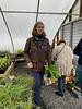 Andrea Sprott, Pat in bulb house. Velthemia.  1/13/20