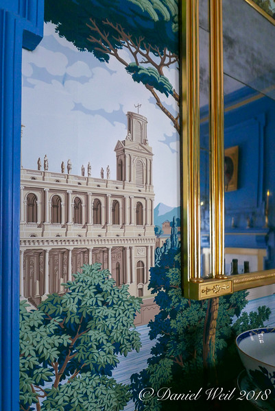 Dining room, Monuments of Paris wallpaper.