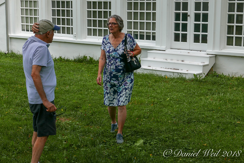 Steve, Linette S of orangerie, which was W of house and slightly downhill