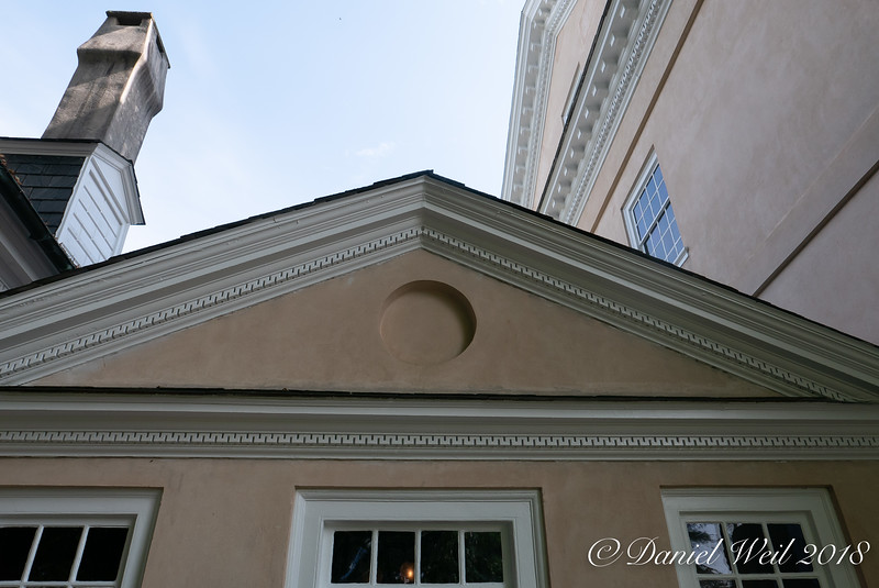 Gable over visitor entrance