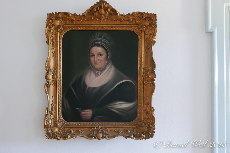 Portrait, not named to us.  She looks kindly.  Great hall.