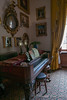 Square piano, music room; harp off picture, to R