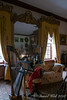 Music room; Eliza R's harp