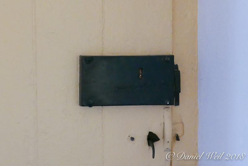 Rim lock, (kitchen?) door