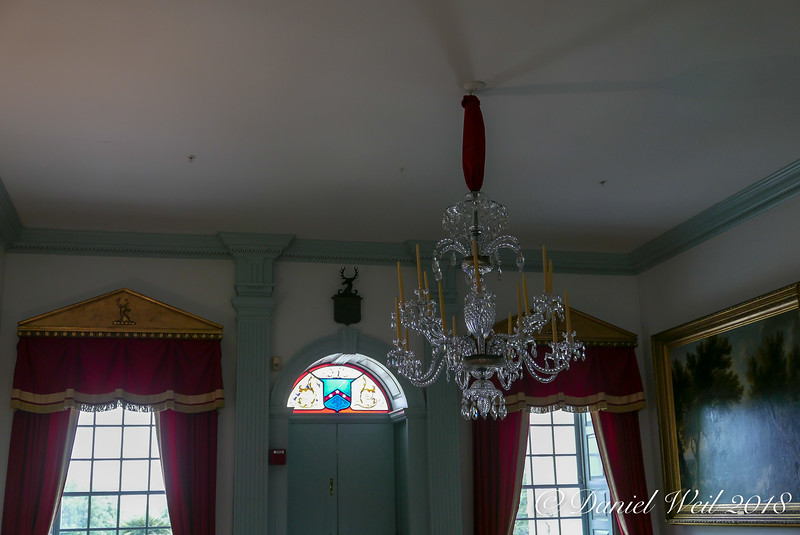 Chandeliers later addition, original c.'s were candle