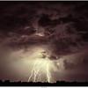 Lightning over de Ginkelse Hei near Ede, NL