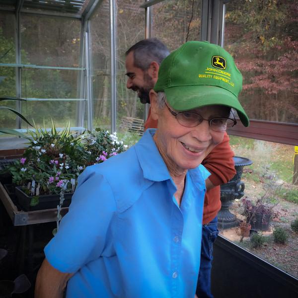 Nancy Goodwin, at Montrose, with Eleftherios Dariotis