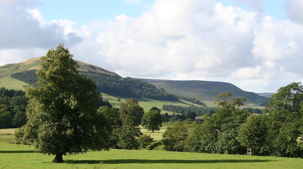 The view from the Inn at Whitewell, Forest of Bowland, Lancashire, England