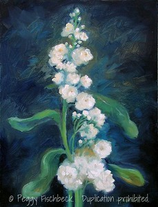 Stock (Matthiola Incana) 14x18  oil on canvas