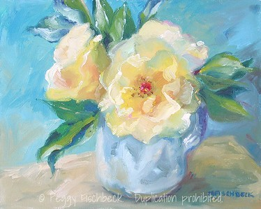 Yellow Roses  8x10  oil on canvas NFS