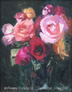 A Dozen Roses, 11x14, oil on panel