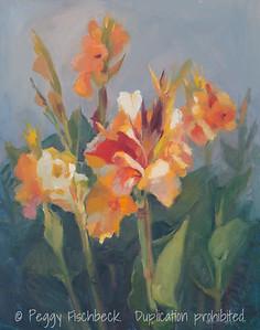 Canna Lilies, 16x20, oil on canvas  G0617