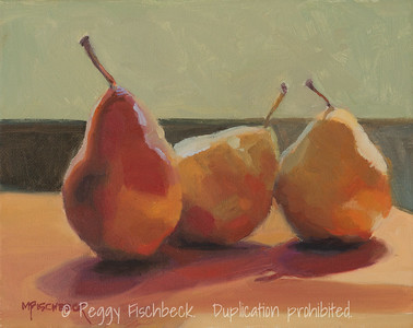Ripe Pears, 8x10, oil. F0545  SOLD