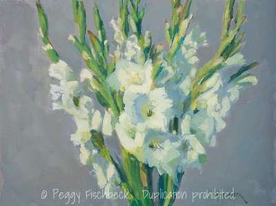 Gladiolas, 12x16, oil on linen panel - available at SCOUT Quarters D     F0517